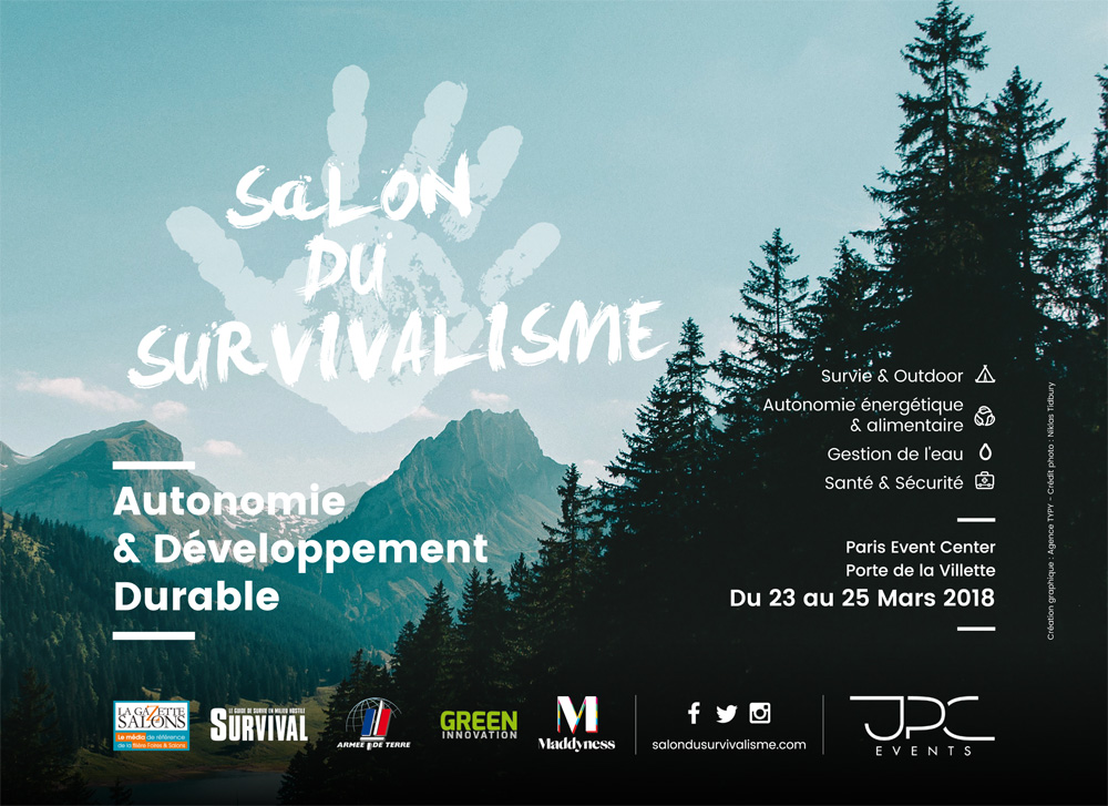 Le premier salon du survivalisme en mars 2018 paris la for Salon paris mars 2017