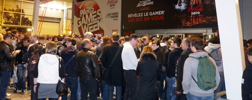 Les gamers en affluence à la Paris Games Week